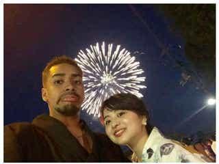 「テラハ」福田愛大&田中優衣、浴衣で花火大会デート満喫
