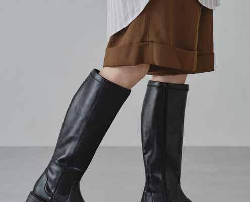 今年らしいのに、長く履ける! カジュアルロングブーツを冬コーデの味方に