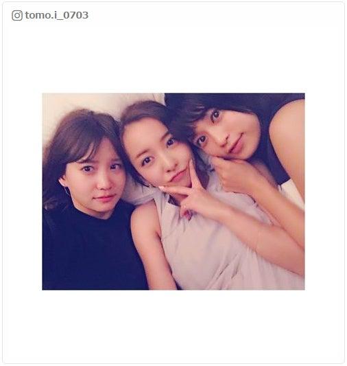 (左から)永尾まりや、板野友美、小島瑠璃子/板野友美Instagramより