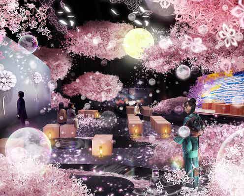 360度の桜彩空間に感動!日本橋「FLOWERS BY NAKED 2019」開催決定