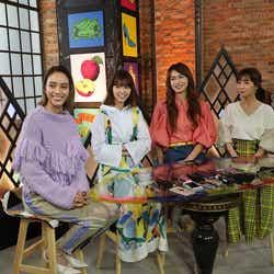 滝沢カレン、西野七瀬、長谷川京子、田中みな実 (写真提供:カンテレ)