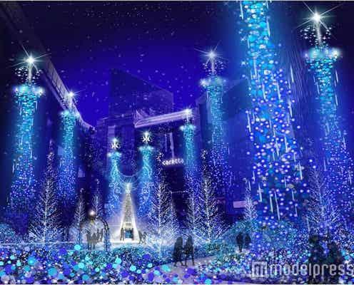"""イルミ約27万球の""""青い精霊の森""""が幻想的!カレッタ汐留史上最高の輝き"""