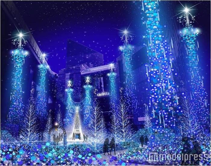 Caretta Illumination 2016「カノン・ダジュール Canyon d'Azur ~青い精霊の森~/画像提供:カレッタイルミネーションPR事務局