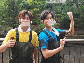 なにわ男子・藤原丈一郎&長尾謙杜、泥だらけで奮闘 コンサートにも採用?驚きアイディア飛び出す