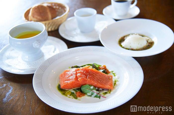 栃木名産のプレミアムヤシオマスを使ったひと皿(C)モデルプレス