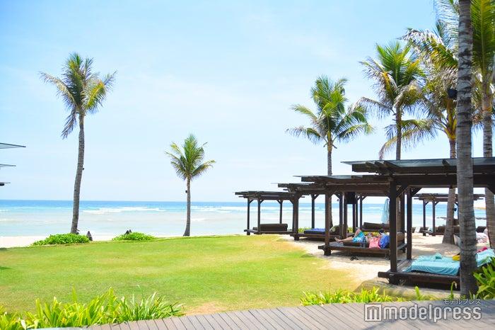 お昼時にはビーチでくつろぐ人がたくさん (C)モデルプレス
