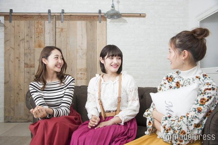 (左から)柳田菜月さん、未来蕗さん、今西由記さん(C)モデルプレス