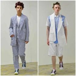 「コムデギャルソン・シャツ」21年春夏コレクション発表、レイヤードパーツで変化