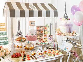 大阪「パリジェンヌのお茶会~スイーツブッフェ~」エッフェル塔クッキーや3色ケーキ
