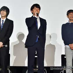 (左から)荒牧慶彦、富田健太郎、千葉誠治監督 (C)モデルプレス