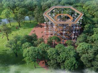 大阪に巨大アスレチック「万博ビースト」万博記念公園に誕生