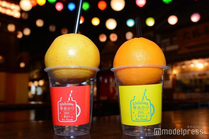 カジュッタ グレープフルーツ、カジュッタ オレンジ各¥470※通常はカップなしでの提供(C)モデルプレス