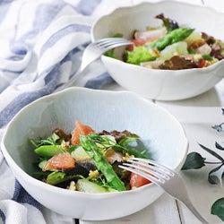 きれいをチャージ!アスパラガスとグレープフルーツのグリーンサラダ