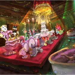 """アトラクション「美女と野獣""""魔法のものがたり""""」※写真はイメージ(C)Disney"""