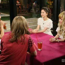 左から時計回り:ダレノガレ明美、河北麻友子、益若つばさ、きゃりーぱみゅぱみゅ/画像提供:関西テレビ
