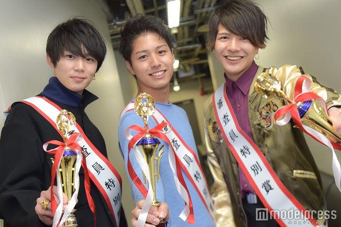 (左から)丸本拓永さん、臼田太晟さん、塙旺雅さん