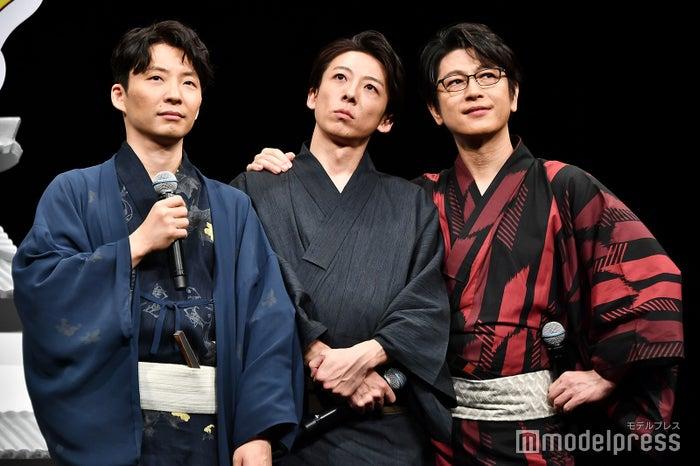 飯尾和樹から集まるようにお願いされ、「?」な星野源、高橋一生、及川光博 (C)モデルプレス