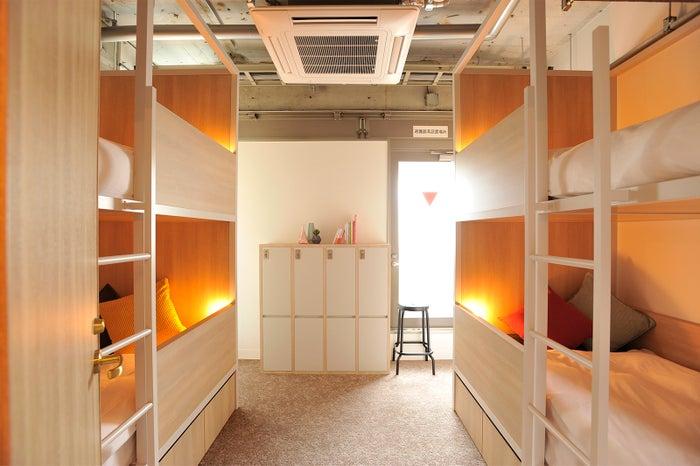 一人旅におすすめのドミトリータイプは2室でベッド数8台(提供画像)
