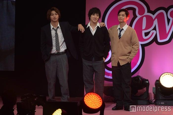 ドS男子チーム(左から)横浜流星、上遠野太洸、千葉雄大(C)モデルプレス