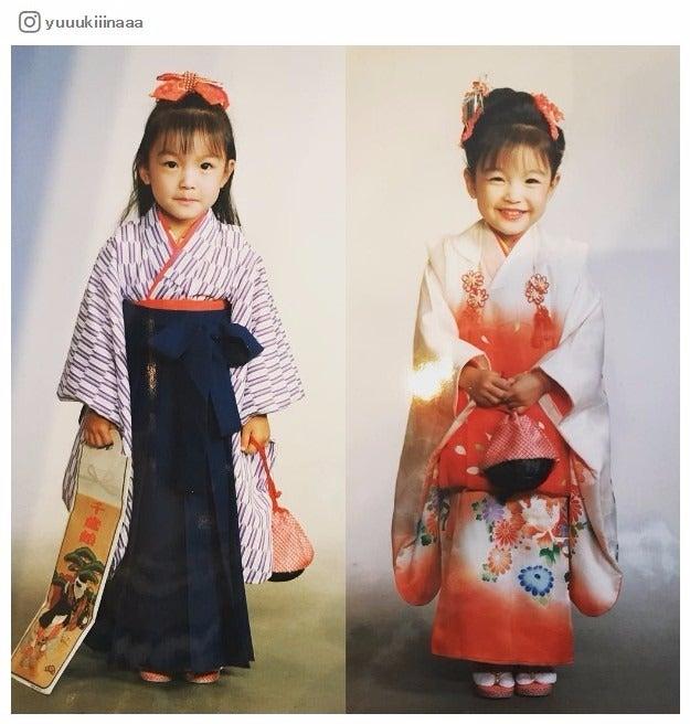 木下優樹菜、七五三写真が長女とそっくりすぎ「びっくりするくらい似てる」と驚きの声/Instagramより