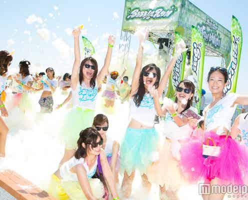 累計10万人以上が泡まみれに「バブルラン」宮城で初開催