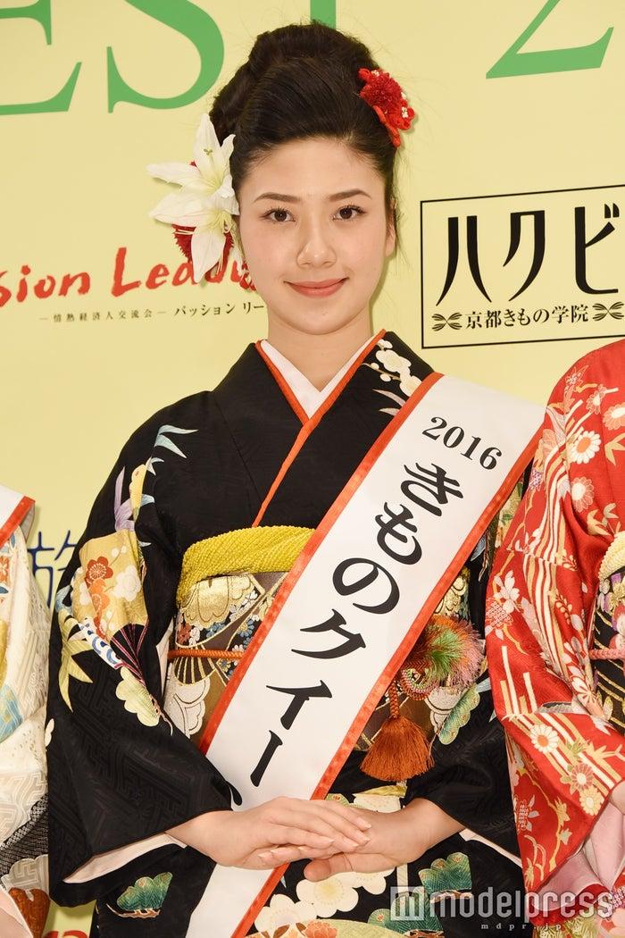 「2016きものクイーン」に輝いた松田和佳さん(C)モデルプレス