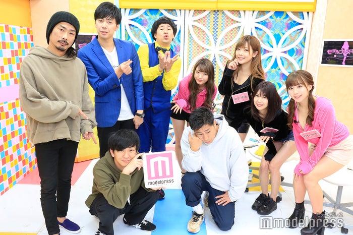 (前列左から)向井慧、尾形貴弘(後列左から)菅良太郎、西村真二、きょん、小林彩友、藤田恵名、三宿菜々、日野麻衣(C)モデルプレス