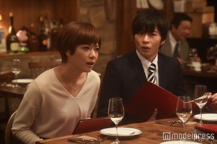 「家族ノカタチ」第4話場面カット/上野樹里、田中圭/画像提供:TBS