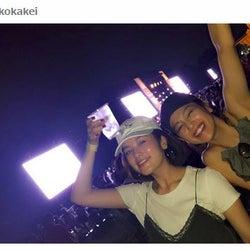 中村アン&筧美和子「ひたすらハイボールと共に」野外フェス満喫 「ほろ酔い?」「可愛すぎ」2ショットに反響