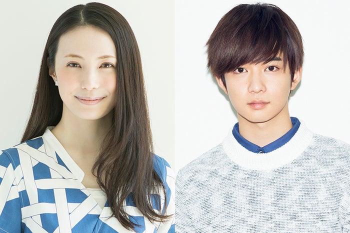 ドラマ『ソースさんの恋』に出演するミムラ&千葉雄大(提供写真)