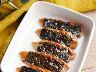 【作り置きレシピ】梅だれでさっぱり。「鶏ささみの梅のり蒲焼き」
