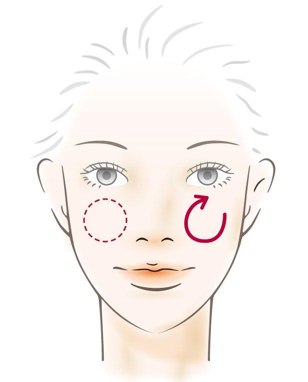 頬のハリツヤケア