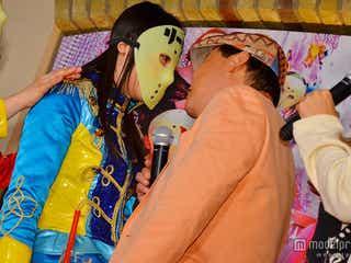 仮面女子、ダチョウ倶楽部・上島とキス? コラボに感激「夢だった!」