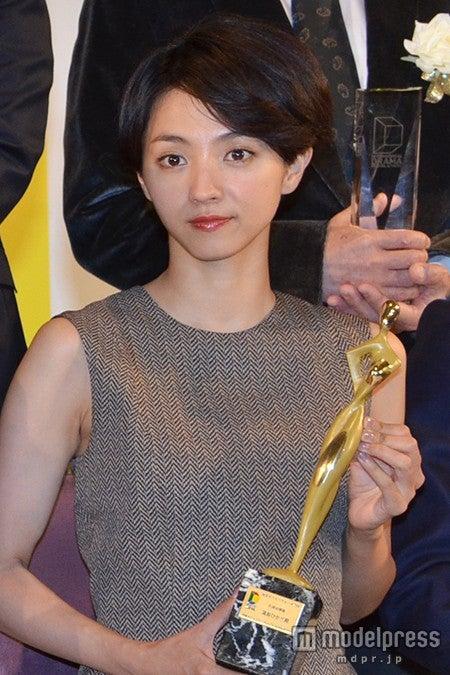 「東京ドラマアウォード2014」授賞式で、主演女優賞を受賞した満島ひかり【モデルプレス】