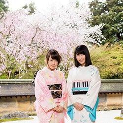 真面目な話も少ししたと言う龍安寺/(左から)川栄李奈、横山由依(C)関西テレビ放送