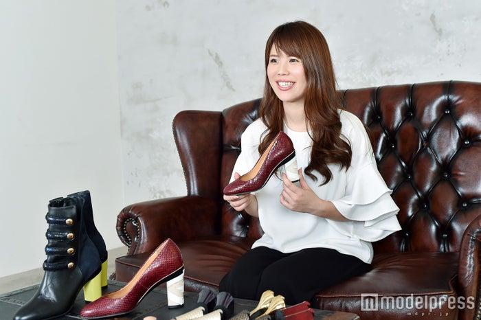 モデルプレスのインタビューに応じた上野真里子(C)モデルプレス