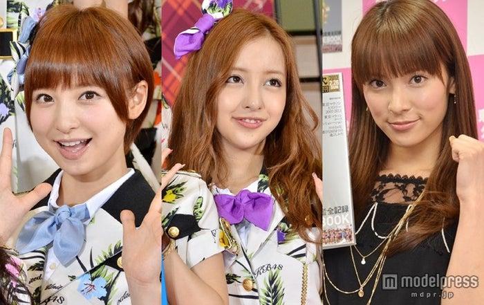 卒業セレモニーの日程も発表(左から)篠田麻里子、板野友美、秋元才加