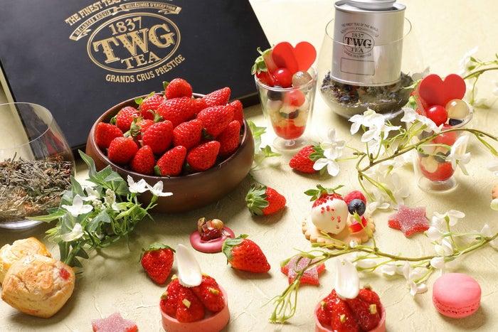 ストロベリー × ショコラ アフタヌーンティー/画像提供:GHS別府