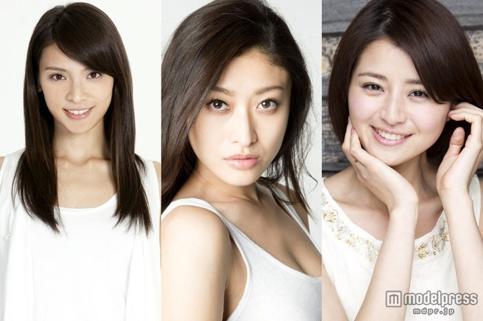 「a-nation」×「GirlsAward」コラボファッションショー出演者発表/左から:秋元才加(AKB48)、山田優、鈴木ちなみ