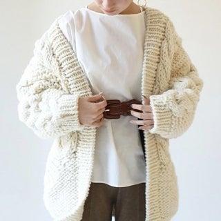 ゆるっと羽織りたい!ざっくりカーディガンで秋のこなれコーデ完成♡