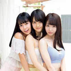 (左から)諸橋沙夏、高松瞳、大谷映美里(C)藤本和典/ヤングマガジン