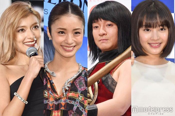 (左から)ローラ、上戸彩、濱田岳、広瀬すず(C)モデルプレス