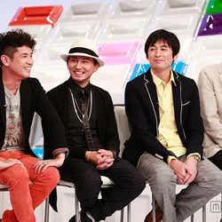 (左より)西村和彦、ISSA(DA PUMP)、博多大吉(博多華丸・大吉)、田中卓志(アンガールズ)/(C)フジテレビ