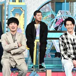 (前列左から)劇団ひとり、杉野遥亮(後列左から)都築拓紀、後藤拓実、石橋遼大(C)TBS