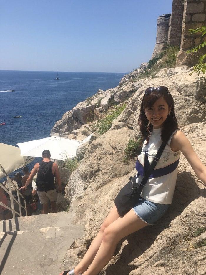 夏休みの旅行が一年の活力です!この前の夏休みは、クロアチアとハンガリーに行きました*海も空も綺麗で癒されました…!/内田嶺衣奈アナウンサー(提供写真)