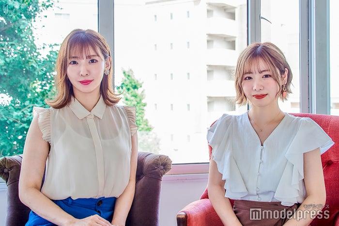 (左から)茉莉邑薫、てぃーみき(C)モデルプレス