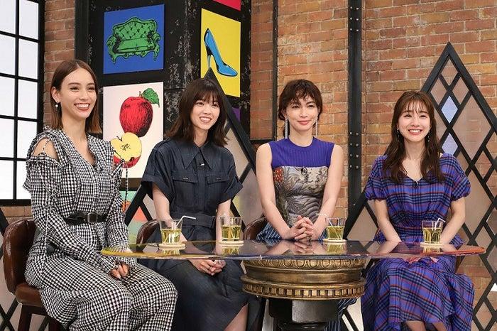 (左から)滝沢カレン、西野七瀬、長谷川京子、田中みな実(C)カンテレ