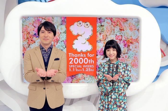 桝太一アナ、川島海荷(C)日本テレビ