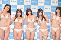 (左から)佐藤あいり、寺本莉緒、沢口愛華、岡田佑里乃、池松愛理 (C)モデルプレス