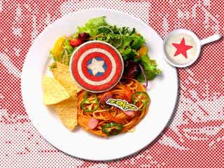 「MARVEL」カフェが表参道に、『スパイダーマン』『アイアンマン』憧れヒーローがメニュー化
